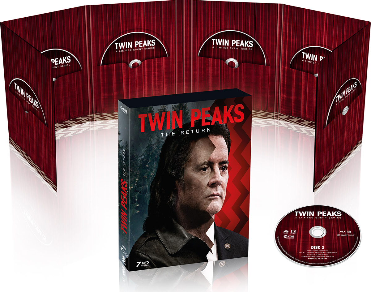 Twin Peaks : The Return - Coffret Blu-ray ouvert