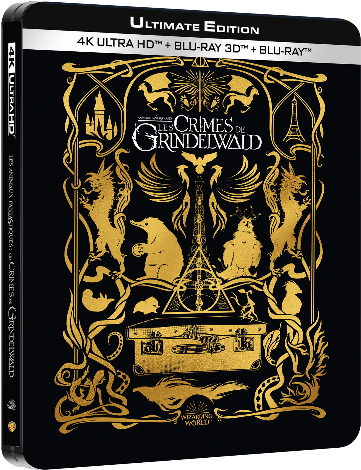Les Animaux Fantastiques : Les Crimes de Grindelwald - 4K Ultra HD + Blu-ray 3D + Blu-ray + Blu-ray Version Longue + CD Audio BOF - SteelBook Fnac