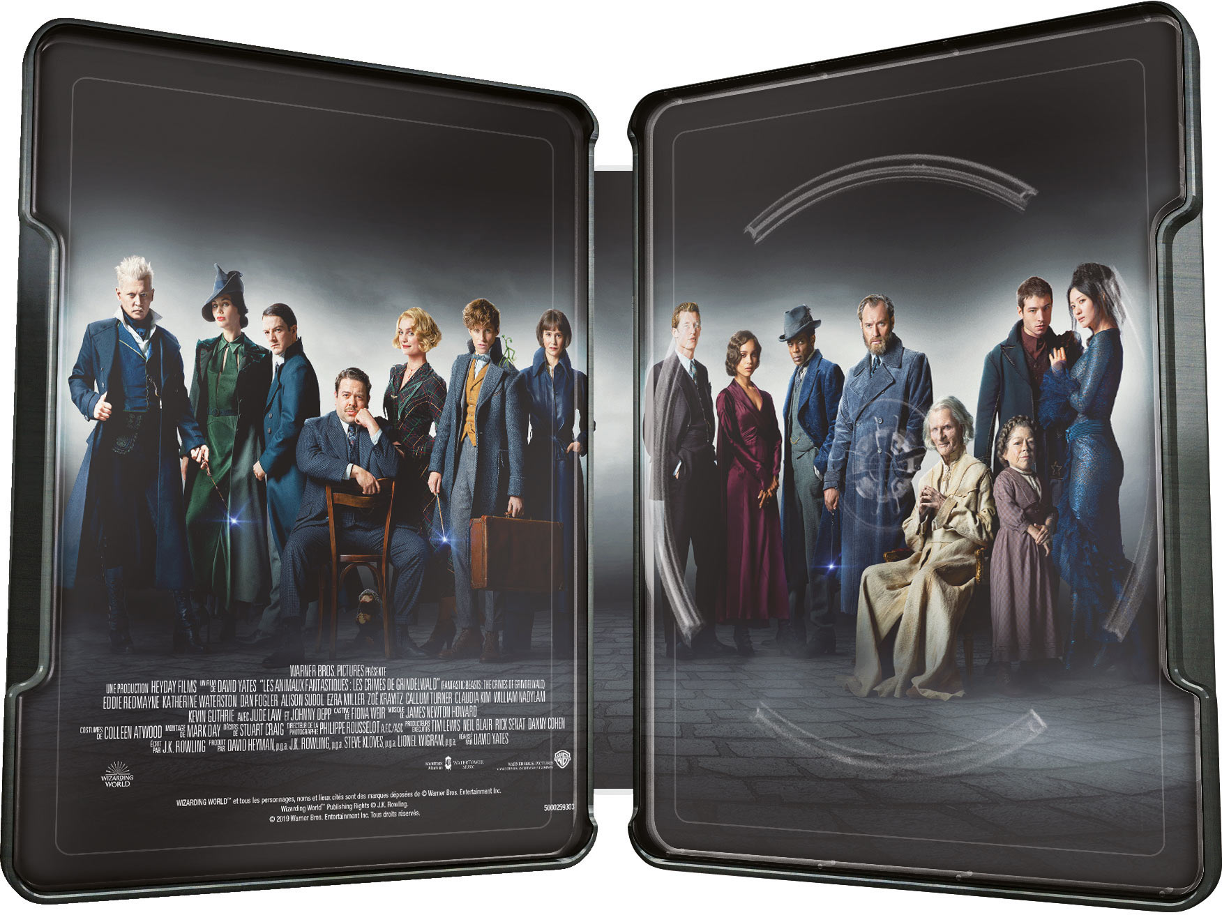 Les Animaux Fantastiques : Les Crimes de Grindelwald - 4K Ultra HD + Blu-ray 3D + Blu-ray + Blu-ray Version Longue - SteelBook