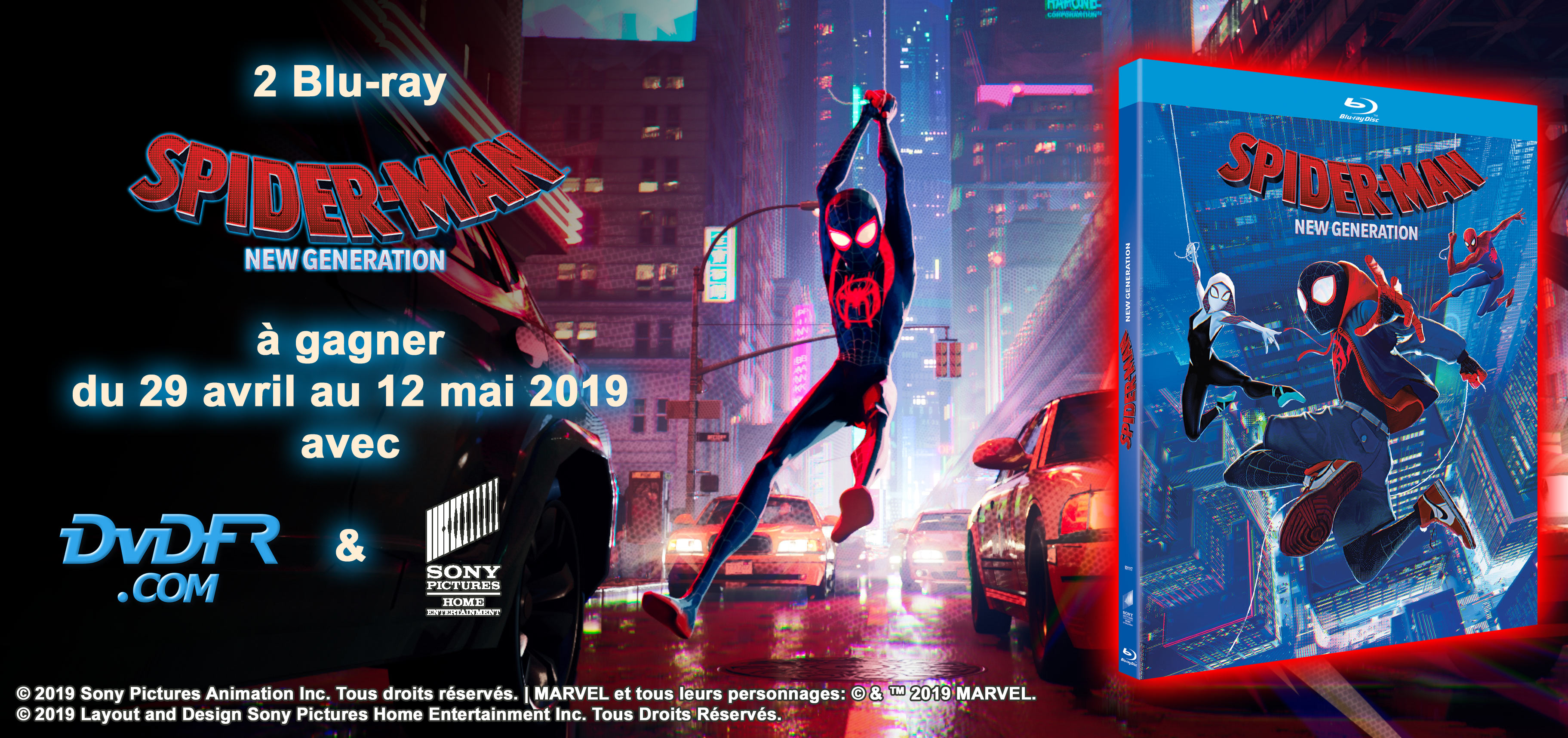 Concours Spider-Man : New Generation - Blu-ray