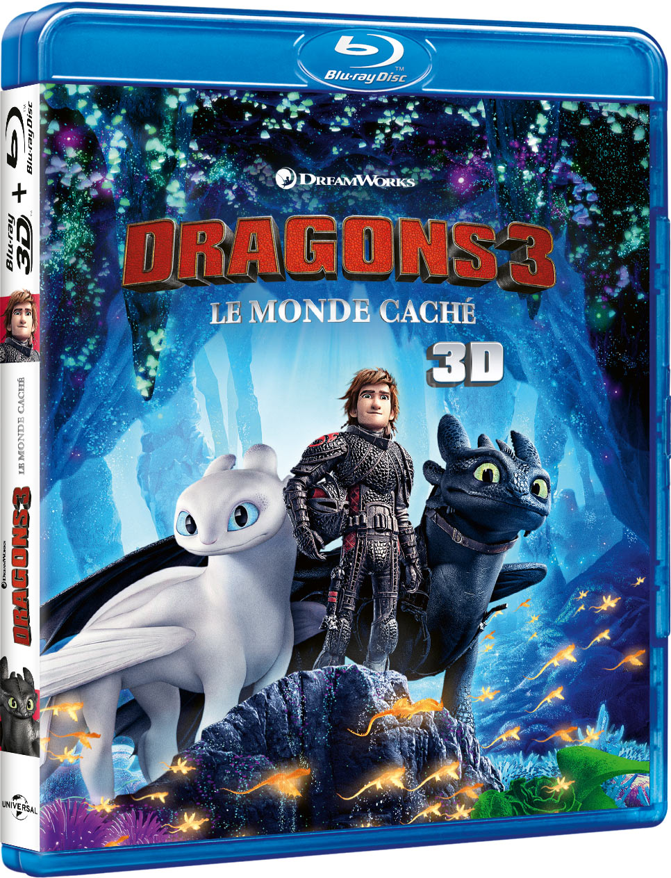 Dragons 3 : Le Monde caché - Blu-ray 3D + Blu-ray 2D + Digital