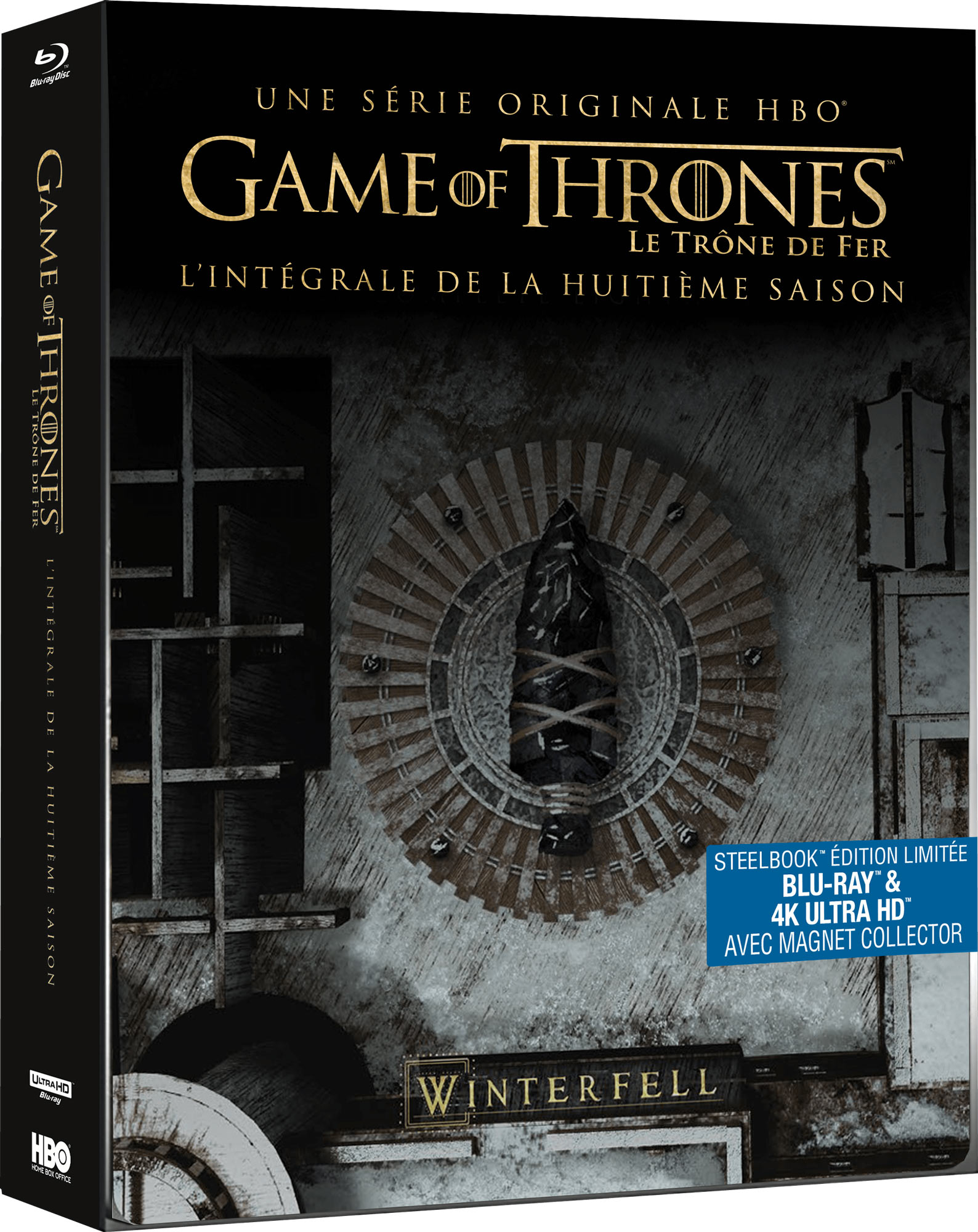 Game of Thrones - Saison 8 - SteelBook Blu-ray + 4K Ultra HD + Magnet collector