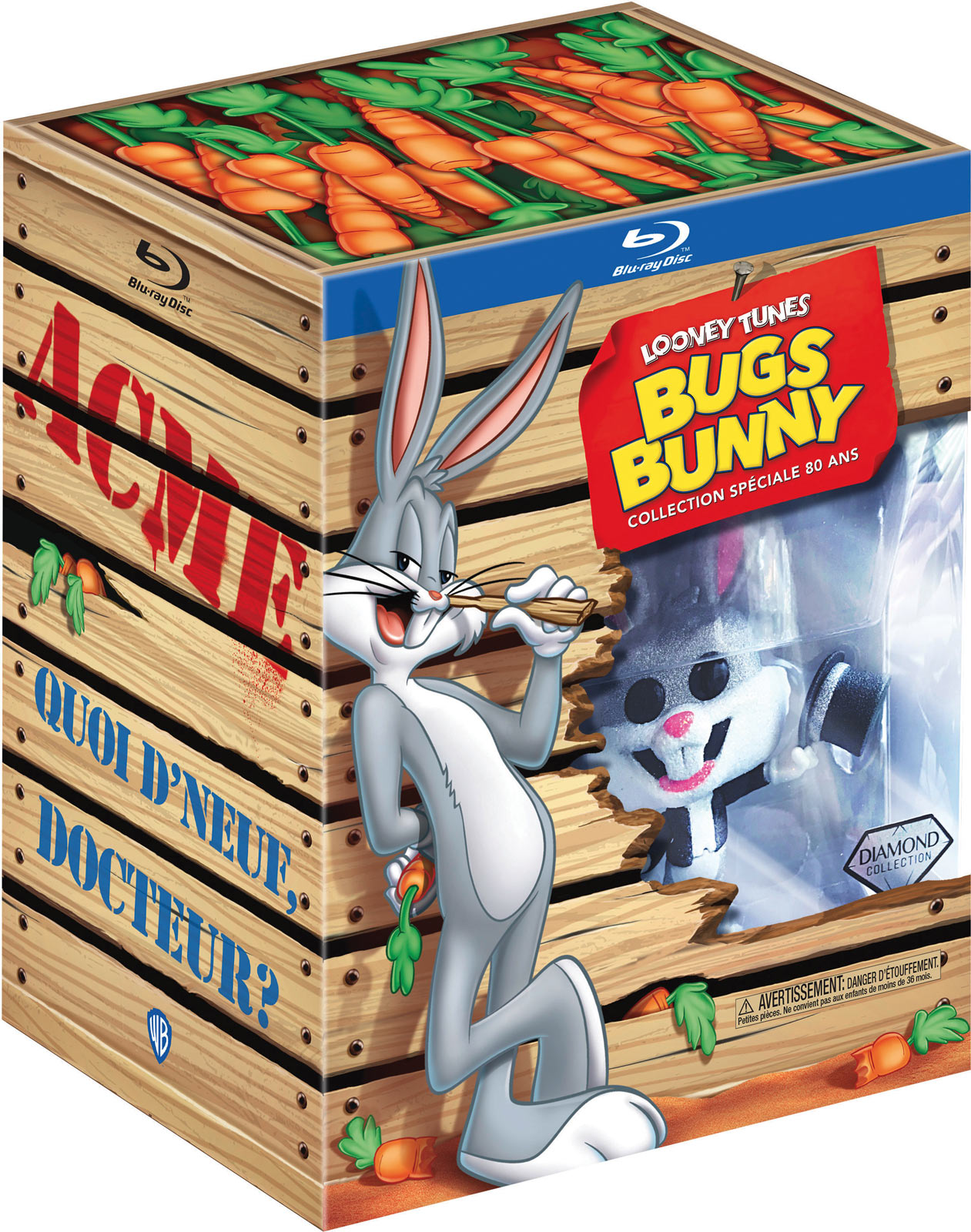 Looney Tunes - Bugs Bunny - Collection spéciale 80 ans - Coffret Blu-ray + Goodies