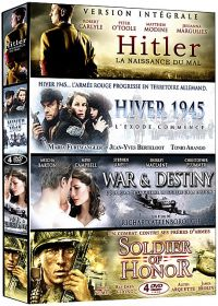 Collection Guerre - Coffret 4 films n° 2 : Hitler - La naissance du Mal + Hiver 1945 + War & Destiny + Soldier of Honor (Pack) - DVD