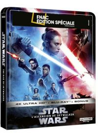Star Wars 9 : L'Ascension de Skywalker (Édition Spéciale Fnac - Boîtier SteelBook - 4K Ultra HD + Blu-ray + Blu-ray bonus) - 4K UHD