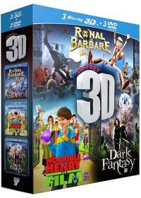 3D - Coffret 3 films : Ronal le Barbare + Horrible Henry - Le Film + Dark Fantasy (Pack) - Blu-ray 3D