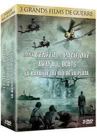 3 grands films de guerre - Coffret n° 2 : Dans l'enfer du Pacifique + Away All Boats + La bataille du Rio de la Plata (Pack) - DVD