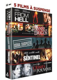 5 films à suspense : From Hell + L'année du dragon + Usual Suspects + The Sentinel + Crimes et pouvoir (Pack) - DVD