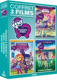 Equestria Girls 2 : Rainbow Rocks + Equestria Girls 3 : Friendship Games + Equestria Girls 4 : La légende d'Everfree - DVD