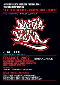 Battle of the Year - France 2002 - DVD