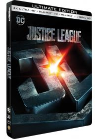 Justice League (4K Ultra HD + Blu-ray 3D + Blu-ray + Digital HD - Édition boîtier SteelBook) - 4K UHD
