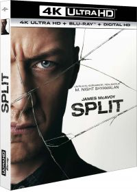 Split (4K Ultra HD + Blu-ray + Copie Digitale UltraViolet) - Blu-ray 4K