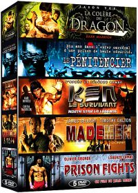 Action aventure - Coffret 5 films n° 3 : La colère du Dragon + Le pénitencier + Ken le survivant + Made Men + Prison Fights (Pack) - DVD