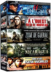 Collection Guerre - Coffret 5 films : Mission Enigma + A l'ouest rien de nouveau + Zone de guerre + Nicaragua + Brand New World (Pack) - DVD