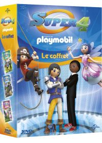 Le Coffret Super 4 (inspiré par Playmobil) : Attention aux dragons + Le tournoi de magie + Origines - DVD