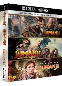 Jumanji + Jumanji : Bienvenue dans la jungle + Jumanji : Next Level (4K Ultra HD + Blu-ray) - 4K UHD