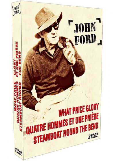 John Ford - Coffret - Steamboat Round the Bend + Quatre hommes et une prière + What Price Glory - DVD