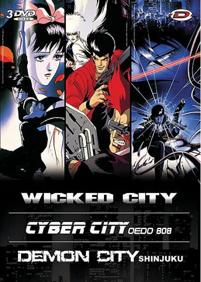 Kawajiri Box : Wicked City + Cyber City Oedo 808 + Demon City Shinjuki - DVD