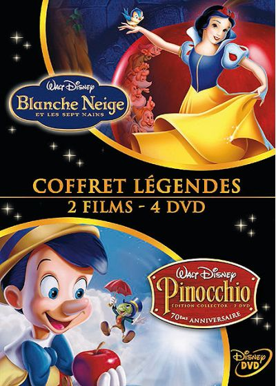 Blanche Neige et les sept nains + Pinocchio (Pack) - DVD