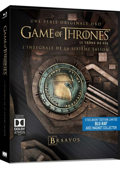 Game of Thrones (Le Trône de Fer) - Saison 6 (SteelBook édition limitée - Blu-ray + Magnet Collector) - Blu-ray