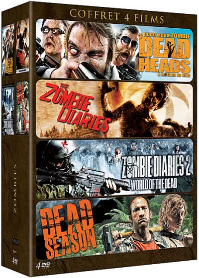 Zombies - Coffret 4 films : Dead Heads + The Zombie Diaries + Zombie Diaries 2 : World of the Dead + Dead Season (Pack) - DVD