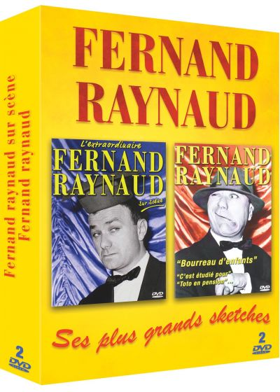 Coffret Fernand Raynaud : L'extraordinaire Fernand Raynaud sur scène + Fernand Raynaud : ses meilleurs sketches (Pack) - DVD