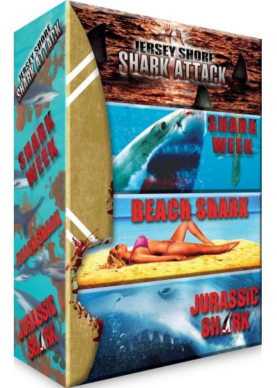 Requins : Jersey Shore Shark Attack + Shark Week + Beach Shark + Jurassic Shark (Pack) - DVD