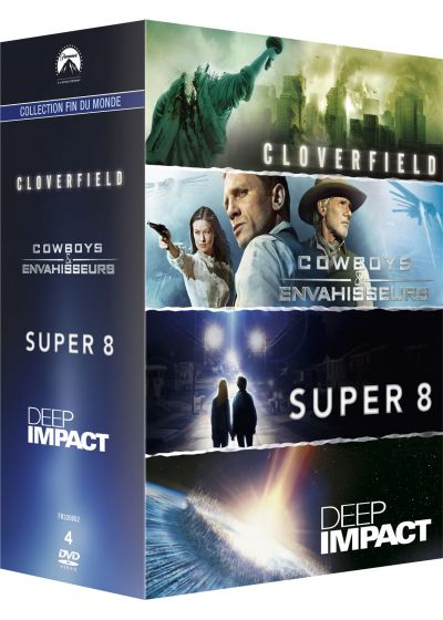 Paramount Collection Fin du Monde : Cloverfield + Cowboys & Envahisseurs + Super 8 + Deep Impact (Pack) - DVD