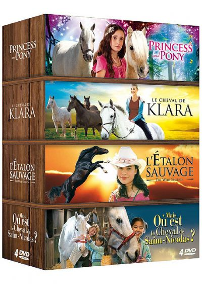 Cheval - Coffret 4 films : Princess and Pony + Le cheval de Klara + L'étalon sauvage + Mais où est le cheval de Saint-Nicolas ? (Pack) - DVD