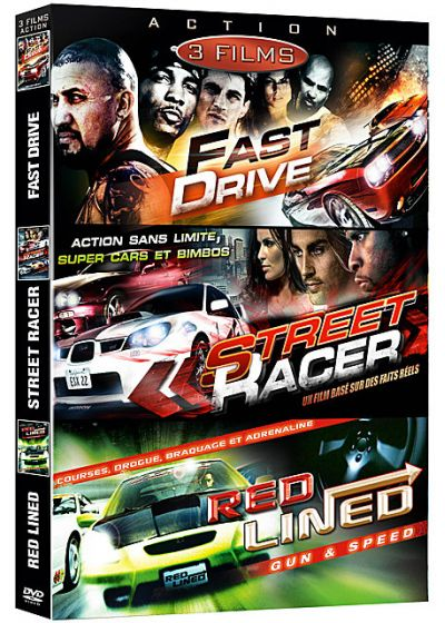 Bolide - Coffret 3 films : Fast Drive + Street Racer + Red Lined - Gun & Speed (Pack) - DVD