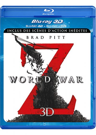 World War Z (Combo Blu-ray 3D + Blu-ray + DVD - Version longue inédite) - Blu-ray 3D