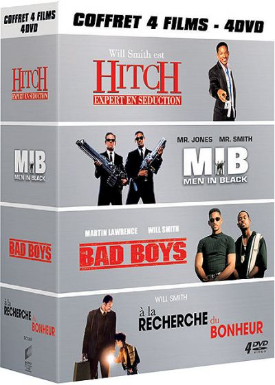 Will Smith - Coffret 4 films : Hitch + MIB + Bad Boys + À la recherche du bonheur - DVD