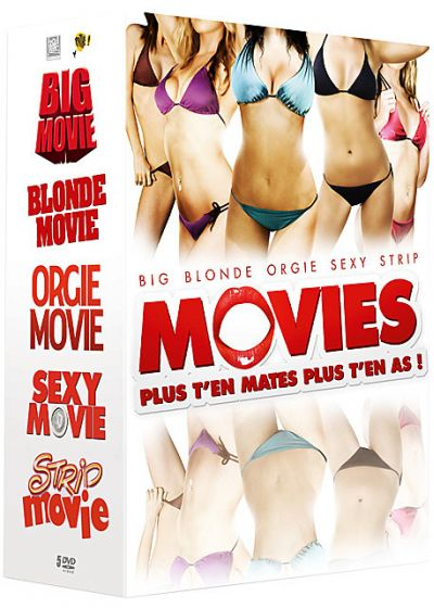 Movies - Plus t'en mates plus t'en as ! : Blonde Movie + Big Movie + Orgie Movie + Sexy Movie + Strip Movie (Pack) - DVD