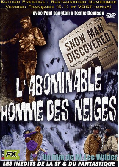 L'Abominable homme des neiges - DVD