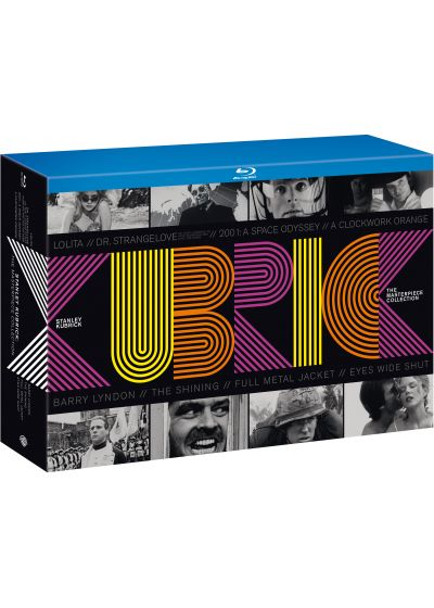 Stanley Kubrick, The Masterpiece Collection : Orange mécanique + Lolita + Docteur Folamour + 2001, l'odyssée de l'espace + Barry Lyndon + Shining + Full Metal Jacket + Eyes Wide Shut + 2 DVD bonus (Édition Limitée) - Blu-ray