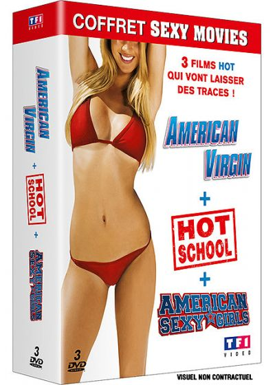 Coffret Sexy Movies : American Virgin + Hot School + American Sexy Girls (Pack) - DVD