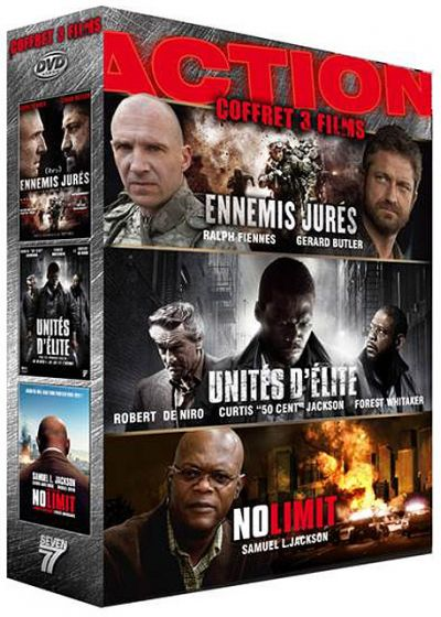 Action - Coffret 3 films : Ennemis jurés + Unités d'élite + No Limit (Pack) - DVD