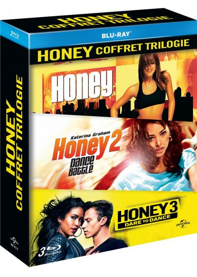 Honey coffret trilogie : Honey + Honey 2: Dance Battle + Honey 3: Dare to Dance - Blu-ray