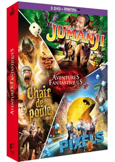 Aventures fantastiques : Jumanji + Chair de poule + Pixels (DVD + Copie digitale) - DVD
