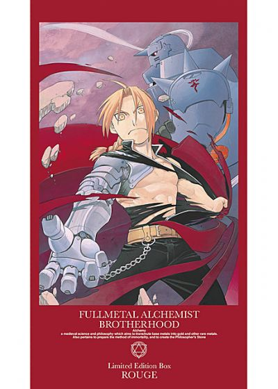 Fullmetal Alchemist : Brotherhood - Intégrale Partie 1 (Limited Edition Box Rouge) - DVD