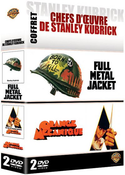 Coffret chefs d'oeuvres de Stanley Kubrick - Full Metal Jacket + Orange Mécanique - DVD