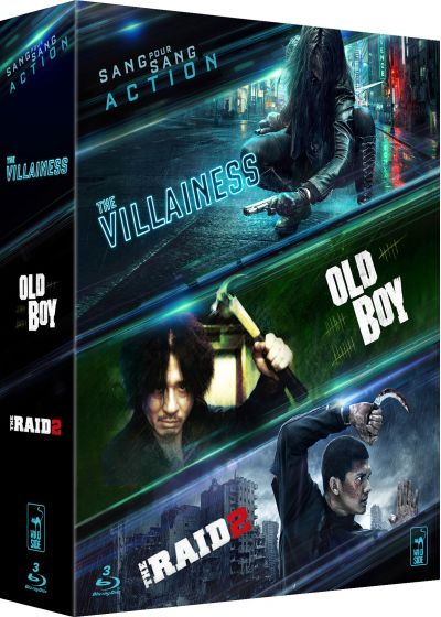 Coffret Action Asiatique - Collection de 3 films - The Villainess + Raid 2 + Old Boy (Pack) - Blu-ray