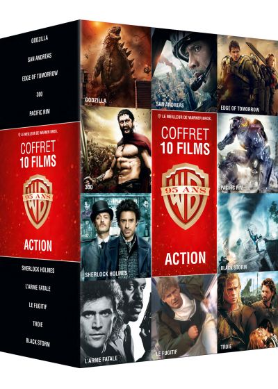 Collection de 10 films action Warner (Pack) - DVD