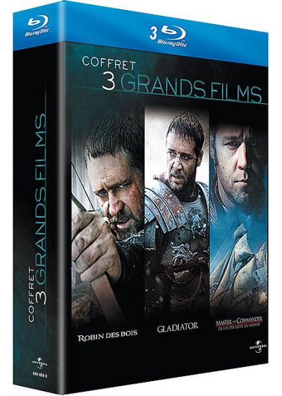 Russell Crowe - 3 grands films : Robin des Bois + Gladiator + Master and Commander - Blu-ray