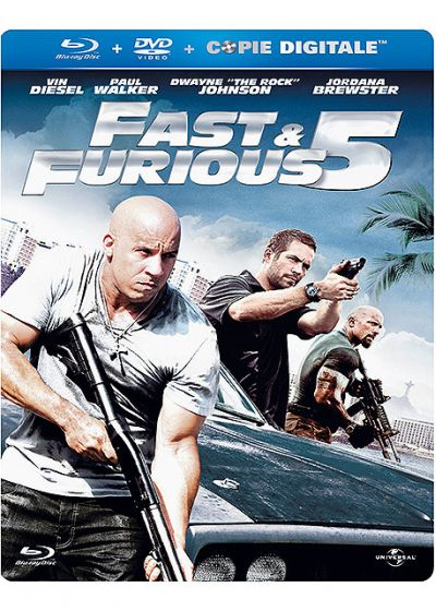 Fast & Furious 5 (Combo Blu-ray + DVD - Édition boîtier SteelBook) - Blu-ray