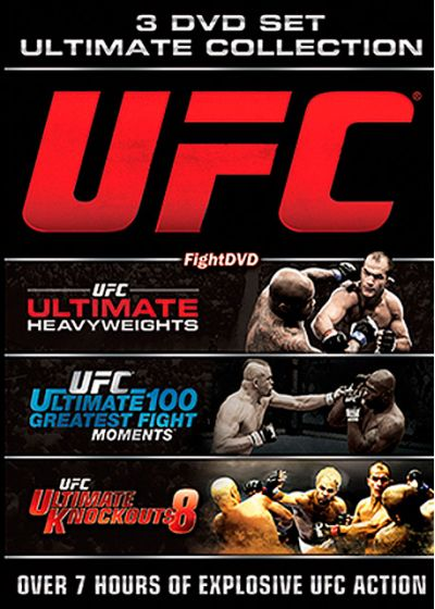 UFC : Ultimate Heavyweights + Ultimate 100 Greatest Moments + Ultimate Knockouts 8 - DVD
