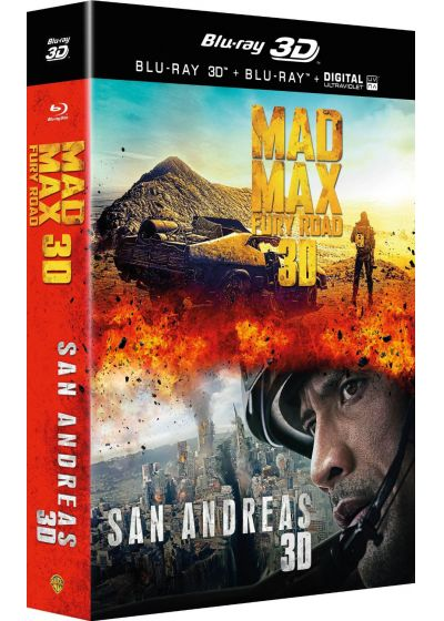 San Andreas + Mad Max : Fury Road (Combo Blu-ray 3D + Blu-ray + Copie digitale) - Blu-ray 3D