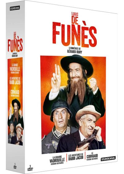 Collection Louis de Funès - La grande vadrouille + Le corniaud + Les aventures de Rabbi Jacob (Pack) - DVD