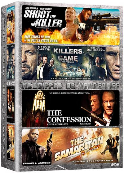 Coffret Assoiffés de vengeance : Shoot the Killer + Killers Game + The Confession + The Samaritan (Pack) - DVD