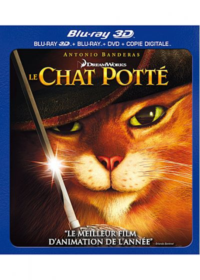 Le Chat Potté (Combo Blu-ray 3D + Blu-ray + DVD + Copie digitale) - Blu-ray 3D